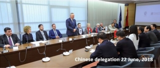 Chinees delegation 22 June, 2018